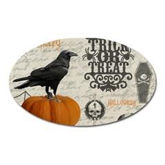 Vintage Halloween Oval Magnet