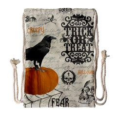 Vintage Halloween Drawstring Bag (large)