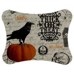 Vintage Halloween Jigsaw Puzzle Photo Stand (bow)