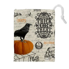 Vintage Halloween Drawstring Pouches (extra Large)