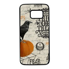 Vintage Halloween Samsung Galaxy S7 Black Seamless Case
