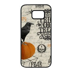 Vintage Halloween Samsung Galaxy S7 Edge Black Seamless Case