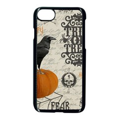 Vintage Halloween Apple Iphone 7 Seamless Case (black)