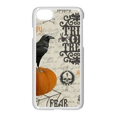 Vintage Halloween Apple Iphone 7 Seamless Case (white)