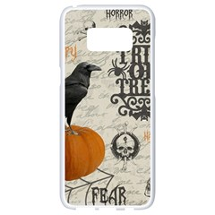 Vintage Halloween Samsung Galaxy S8 White Seamless Case