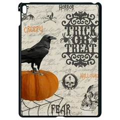 Vintage Halloween Apple Ipad Pro 9 7   Black Seamless Case