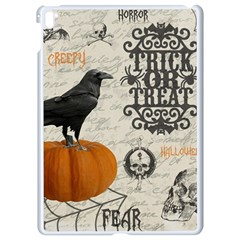 Vintage Halloween Apple Ipad Pro 9 7   White Seamless Case