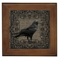 Vintage Halloween Raven Framed Tiles