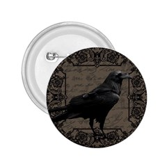 Vintage Halloween Raven 2 25  Buttons