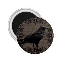 Vintage Halloween Raven 2 25  Magnets
