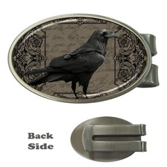 Vintage Halloween Raven Money Clips (oval)