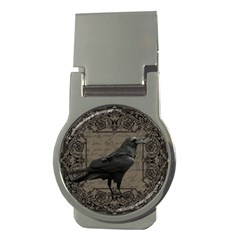 Vintage Halloween Raven Money Clips (round)