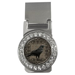 Vintage Halloween Raven Money Clips (cz)