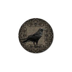 Vintage Halloween Raven Golf Ball Marker (4 Pack)