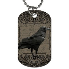 Vintage Halloween Raven Dog Tag (two Sides)