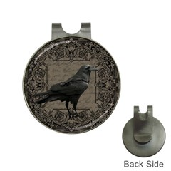 Vintage Halloween Raven Hat Clips With Golf Markers