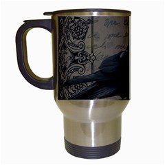 Vintage Halloween Raven Travel Mugs (white)