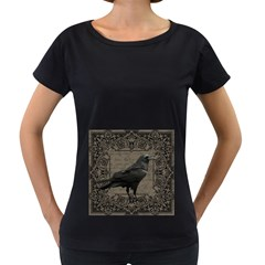 Vintage Halloween Raven Women s Loose Fit T Shirt (black)