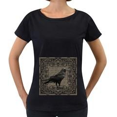 Vintage Halloween Raven Women s Loose Fit T Shirt (black)