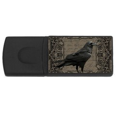 Vintage Halloween Raven Rectangular Usb Flash Drive