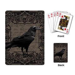 Vintage Halloween Raven Playing Card