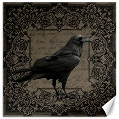 Vintage Halloween Raven Canvas 20  X 20