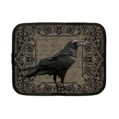 Vintage Halloween Raven Netbook Case (small)