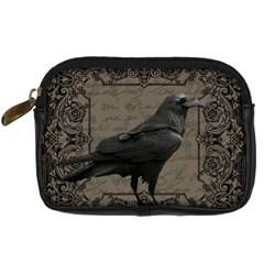 Vintage Halloween Raven Digital Camera Cases