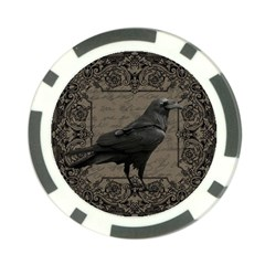 Vintage Halloween Raven Poker Chip Card Guard (10 Pack)