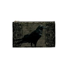 Vintage Halloween Raven Cosmetic Bag (small)