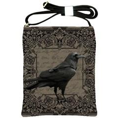 Vintage Halloween Raven Shoulder Sling Bags