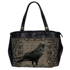 Vintage Halloween Raven Office Handbags (2 Sides)