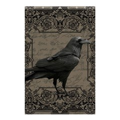 Vintage Halloween Raven Shower Curtain 48  X 72  (small)