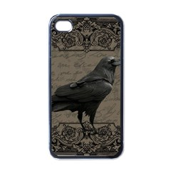 Vintage Halloween Raven Apple Iphone 4 Case (black)