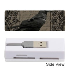 Vintage Halloween Raven Memory Card Reader (stick)