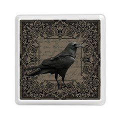 Vintage Halloween Raven Memory Card Reader (square)