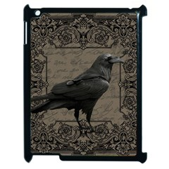 Vintage Halloween Raven Apple Ipad 2 Case (black)