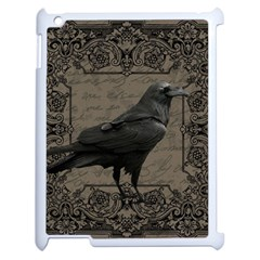 Vintage Halloween Raven Apple Ipad 2 Case (white)
