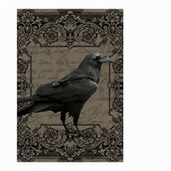 Vintage Halloween Raven Small Garden Flag (two Sides)