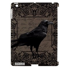 Vintage Halloween Raven Apple Ipad 3/4 Hardshell Case (compatible With Smart Cover)