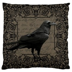 Vintage Halloween Raven Large Cushion Case (one Side)