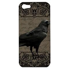 Vintage Halloween Raven Apple Iphone 5 Hardshell Case