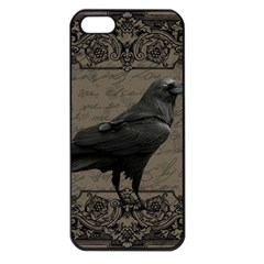 Vintage Halloween Raven Apple Iphone 5 Seamless Case (black)