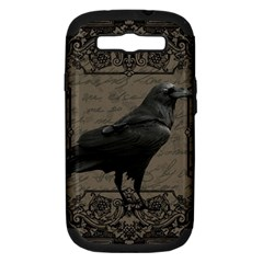 Vintage Halloween Raven Samsung Galaxy S Iii Hardshell Case (pc+silicone)