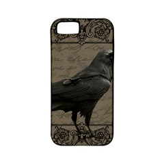 Vintage Halloween Raven Apple Iphone 5 Classic Hardshell Case (pc+silicone)