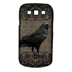 Vintage Halloween Raven Samsung Galaxy S Iii Classic Hardshell Case (pc+silicone)