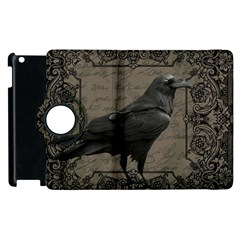 Vintage Halloween Raven Apple Ipad 2 Flip 360 Case