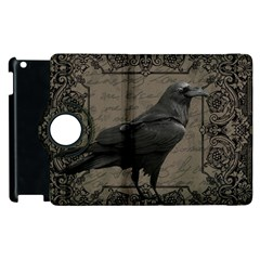 Vintage Halloween Raven Apple Ipad 3/4 Flip 360 Case