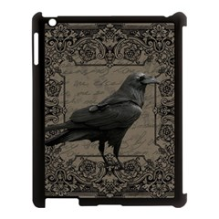 Vintage Halloween Raven Apple Ipad 3/4 Case (black)