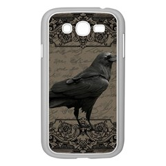 Vintage Halloween Raven Samsung Galaxy Grand Duos I9082 Case (white)